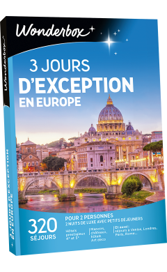 Zoom 3 jours d'exception en Europe